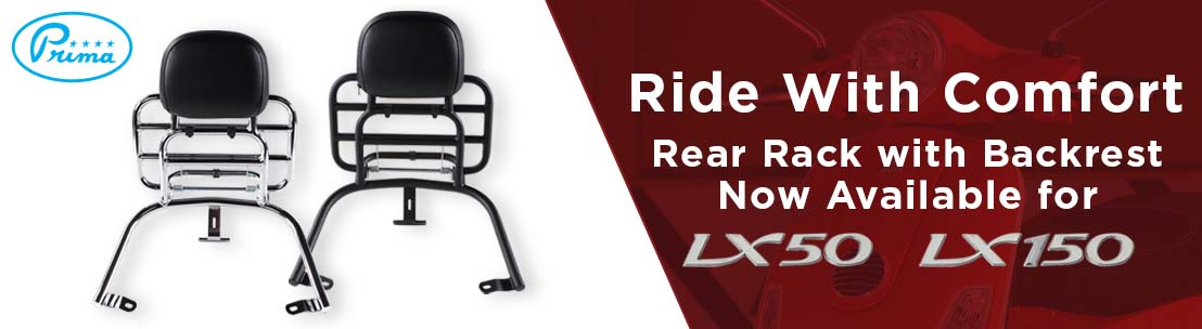 Prima LX Rear Rack with Backrest