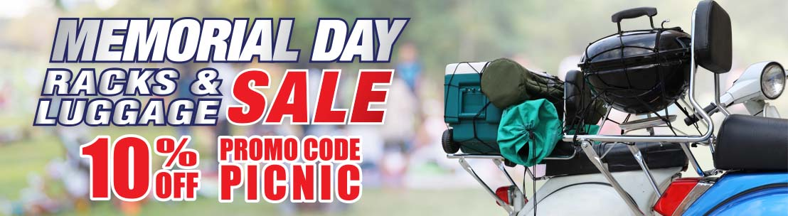 Memorial Day Rack and Luggage Sale